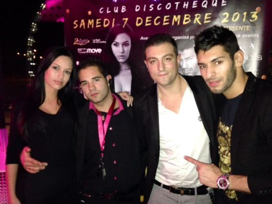 Laetitia tribaldos,Ludovic de R-look events et samir benzema
